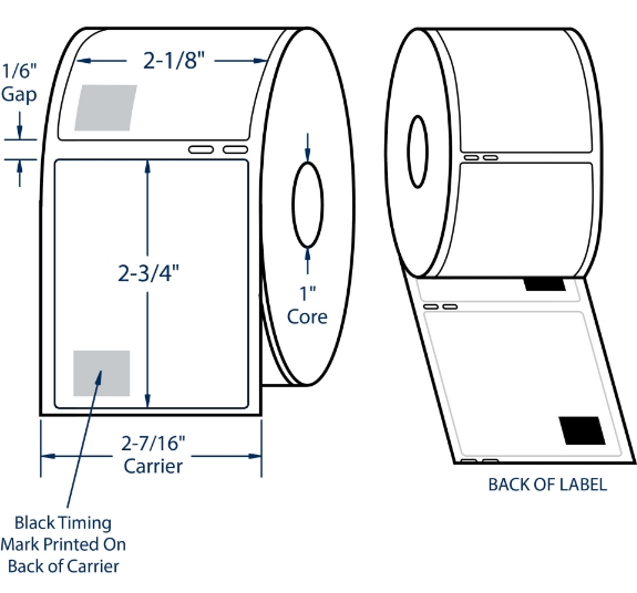 """Compulabel 530155 2-1/8"""" x 2-3/4"""" Dymo Comparable Labels"""