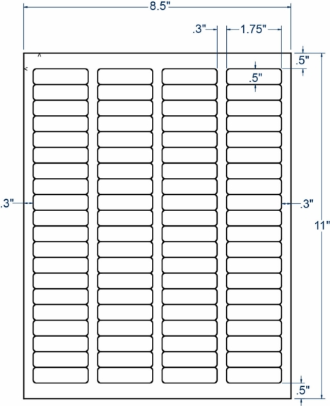 """Compulabel 310735 1-3/4"""" x 1/2"""" Sheeted Labels 100 Sheets"""