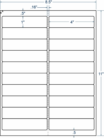 """Compulabel 311174 4"""" x 1"""" Sheeted Labels 100 Sheets"""