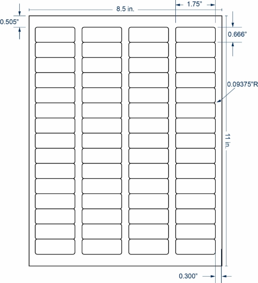 "Compulabel 331312 1-3/4"" x 2/3"" Sheeted Labels 250 Sheets"