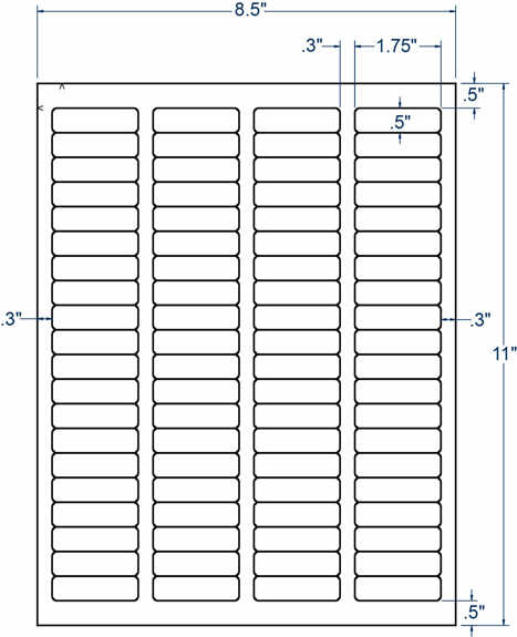 "Compulabel 340749 1-3/4"" x 1/2"" Sheeted Labels 1000 Sheets"