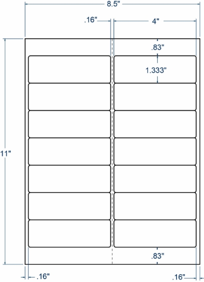 """Compulabel 345847 4"""" x 1-1/3"""" Weather Resistant Sheeted Labels 1000 Sheets"""