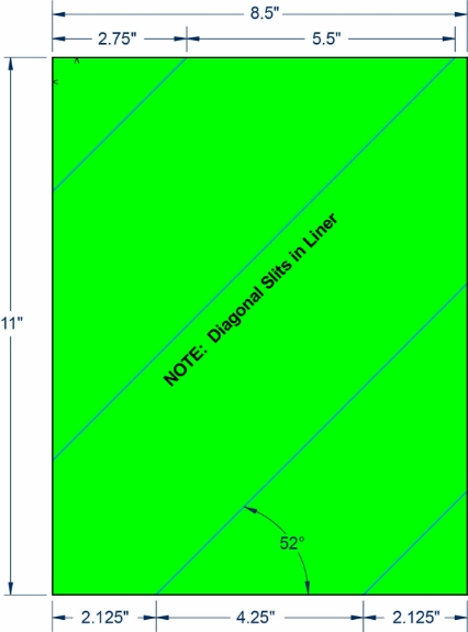"""Compulabel 340220 8-1/2"""" x 11"""" Fluorescent Green Sheeted Labels 1000 Sheets"""