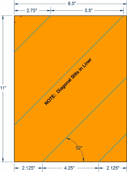 "Compulabel 340209 8-1/2"" x 11"" Fluorescent Orange Sheeted Labels 1000 Sheets"
