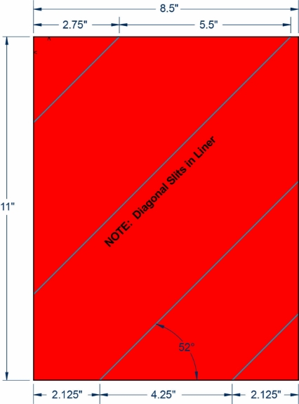"Compulabel 340231 8-1/2"" x 11"" Fluorescent Red Sheeted Labels 1000 Sheets"