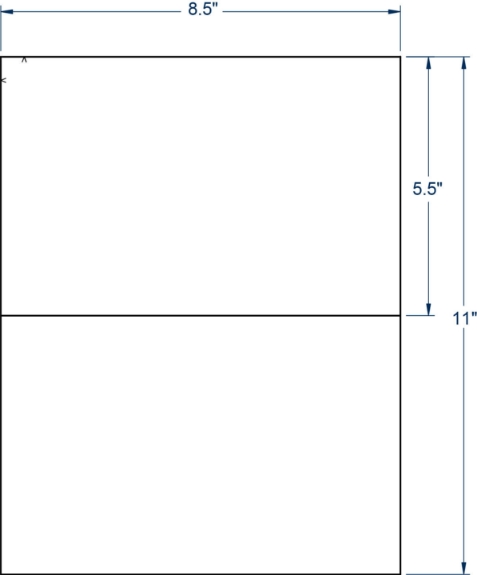 """Compulabel 340301 8-1/2"""" x 5-1/2"""" Sheeted Labels 1000 Sheets"""