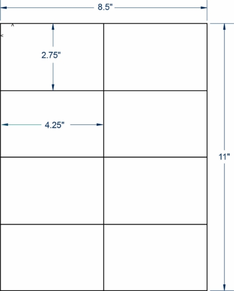 """Compulabel 312658 4-1/4"""" x 2-3/4"""" Sheeted Labels 100 Sheets"""