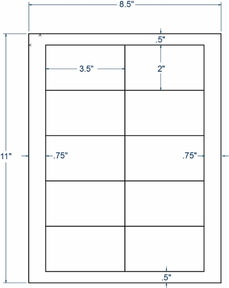 """Compulabel 331053 3-1/2"""" x 2"""" Sheeted Labels 250 Sheets"""