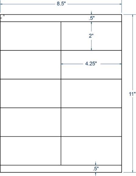 """Compulabel 331806 4-1/4"""" x 2"""" Sheeted Labels 250 Sheets"""