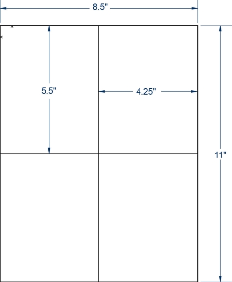 """Compulabel 331907 4-1/4"""" x 5-1/2"""" Sheeted Labels 250 Sheets"""
