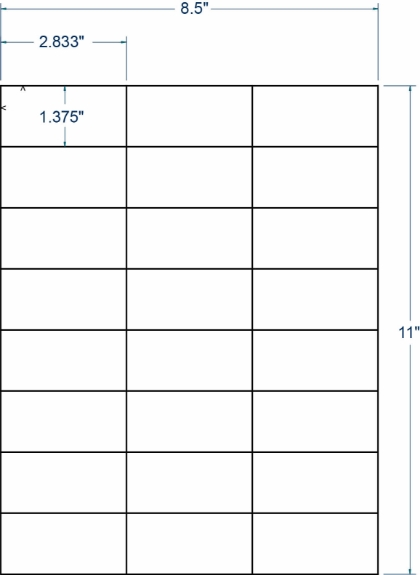 """Compulabel 318701 2-5/6"""" x 1-3/8"""" Sheeted Labels 1000 Sheets"""