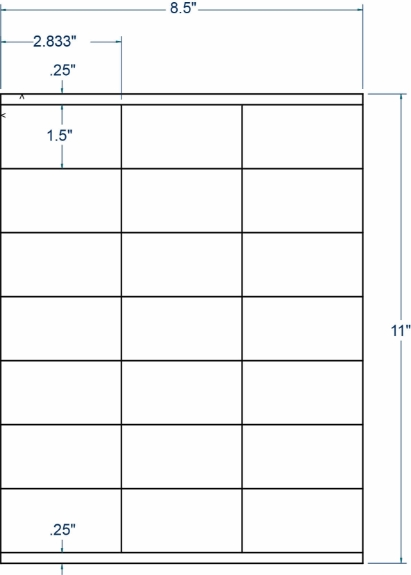 """Compulabel 318745 2-5/6"""" x 1-1/2"""" Sheeted Labels 1000 Sheets"""