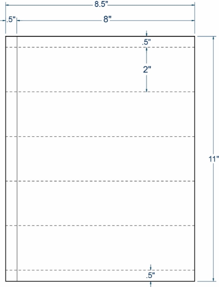 "Compulabel 312952 8"" x 2"" Transcription Sheeted Labels 100 Sheets"