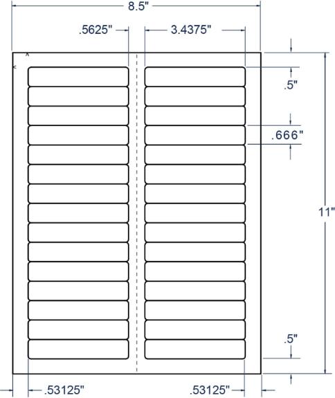 "Compulabel 332458 3-7/16"" x 2/3"" File Folder Sheeted Labels 250 Sheets"