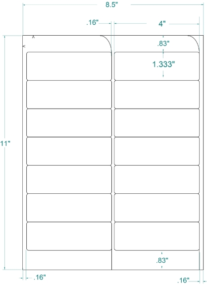 """Compulabel 331558 4"""" x 1-1/3"""" FABTab Sheeted Labels 250 Sheets"""