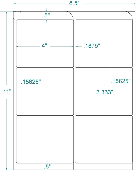 """Compulabel 331705 4"""" x 3-1/3"""" FABTab Sheeted Labels 250 Sheets"""