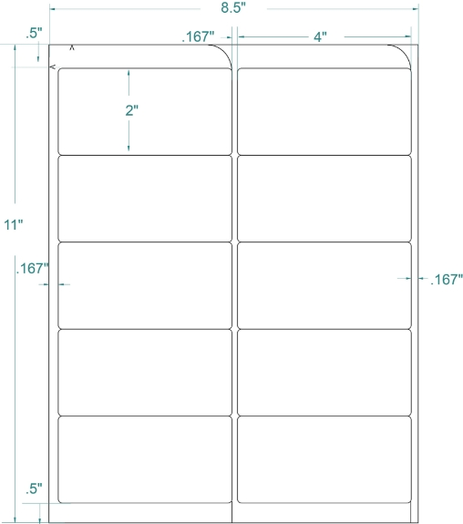 """Compulabel 312153 4"""" x 2"""" Removable FABTab Sheeted Labels 100 Sheets"""