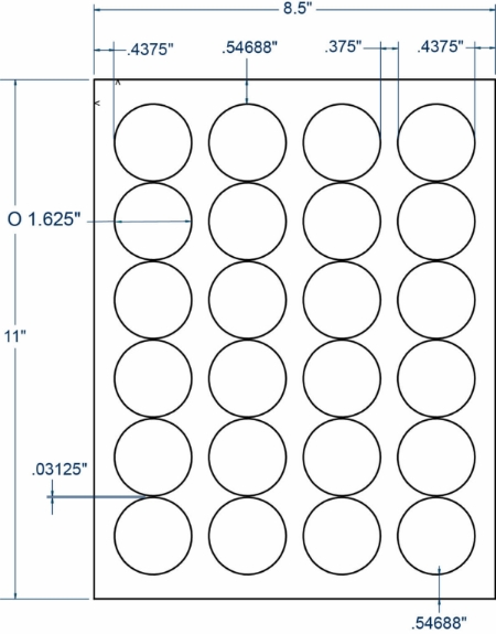 "Compulabel 310307 1-5/8"" Diameter Circular Labels 100 Sheets"