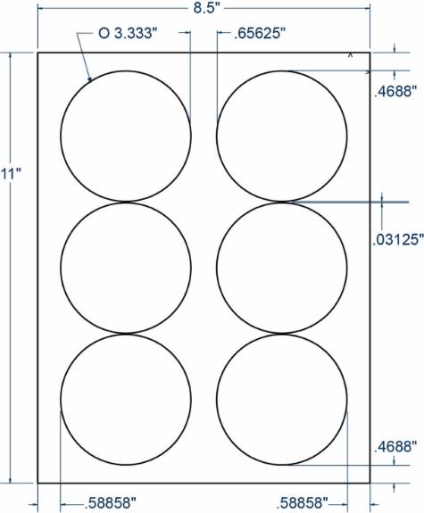 "Compulabel 311657 3-1/3"" Diameter Circular Labels 100 Sheets"