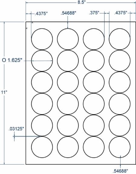 "Compulabel 330254 1-5/8"" Diameter Circular Labels 250 Sheets"