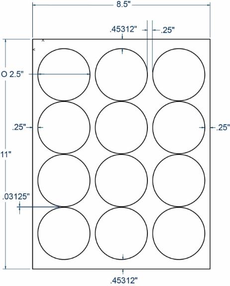 "Compulabel 318723 2-1/2"" Diameter Circular Labels 1000 Sheets"