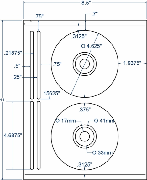 Compulabel 312660 CD/DVD Avery 5931 Comparable Labels