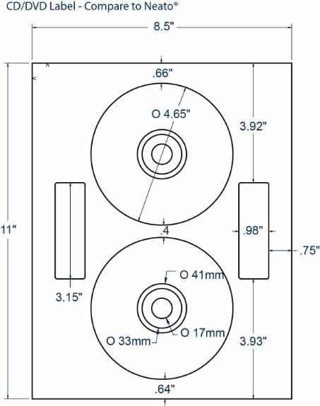 Compulabel 312693 CD/DVD Neato Comparable Labels