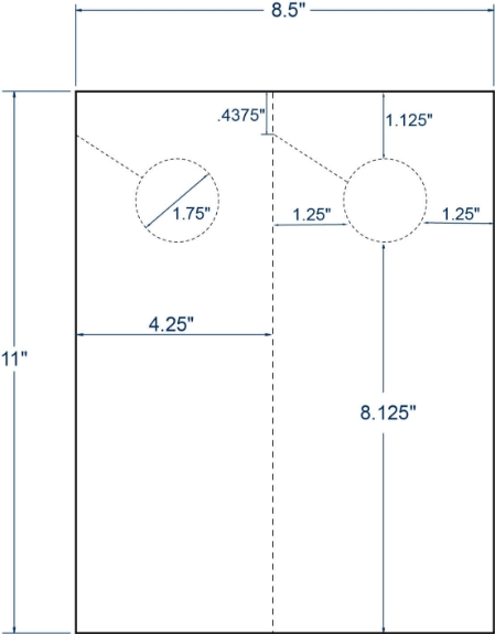"""Compulabel 411254 4-1/4"""" x 11"""" Sheeted Cards 100 Sheets"""