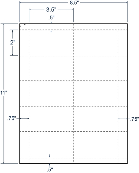 """Compulabel 430108 3-1/2"""" x 2"""" Sheeted Cards 250 Sheets"""