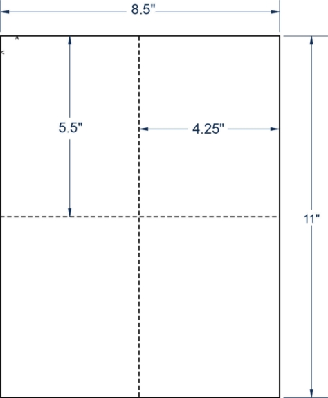 """Compulabel 430558 4-1/4"""" x 5-1/2"""" Sheeted Cards 250 Sheets"""