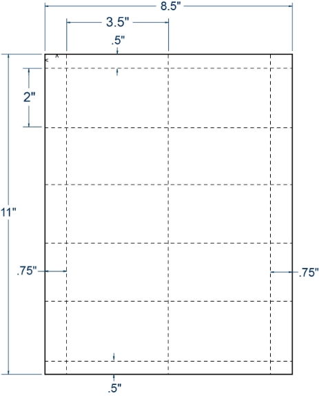 """Compulabel 430110 3-1/2"""" x 2"""" Sheeted Cards 250 Sheets"""
