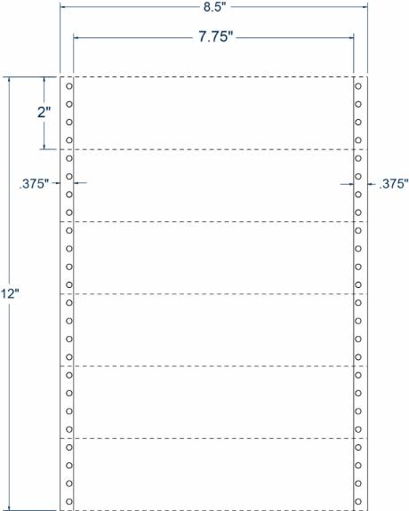 "Compulabel 160356 7-3/4"" x 2"" Transcription Pinfeed Labels"