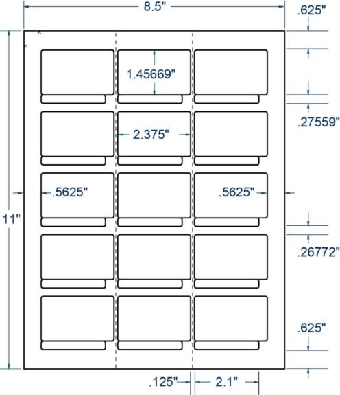"Compulabel 310252 2-3/8"" x 1-3/4"" Removable 4mm DAT Tape Set 100 Sheets"