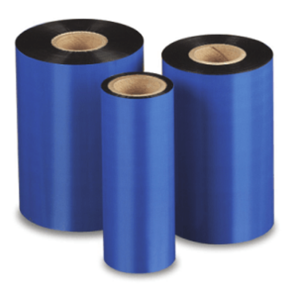 """Picture of Compulabel 730118 - 4.33"""" x 984' Blue Zebra Wax Ribbons"""